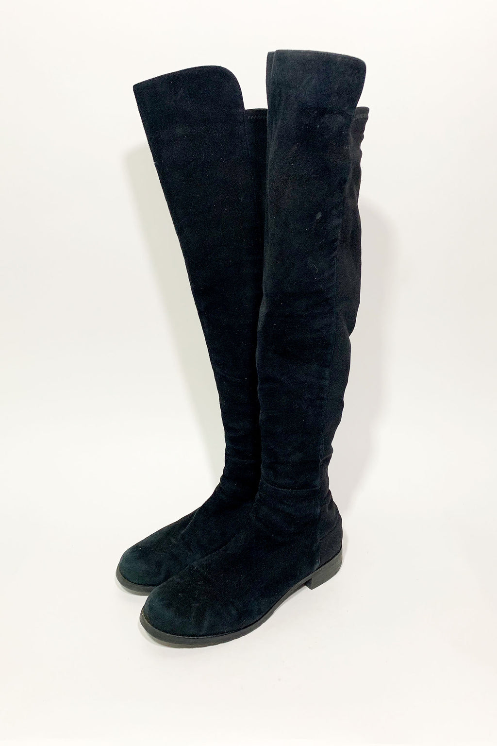 Stuart Weitzman Black 50/50 Knee-High Boots Sz 38