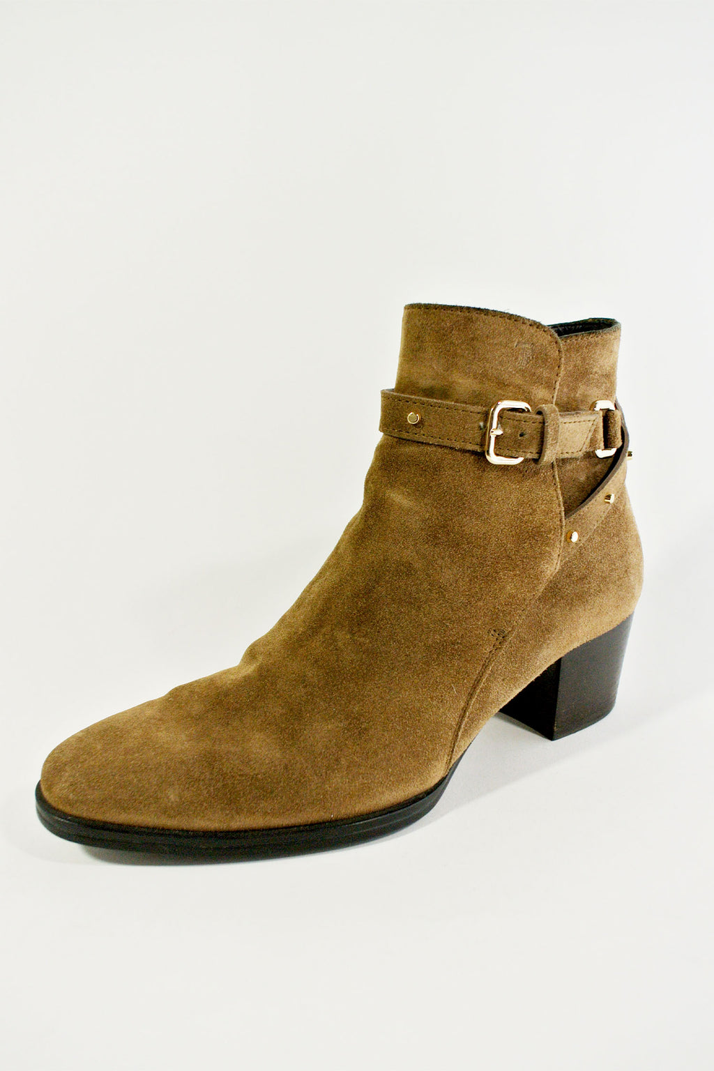 Tods Suede Ankle Booties Sz 37
