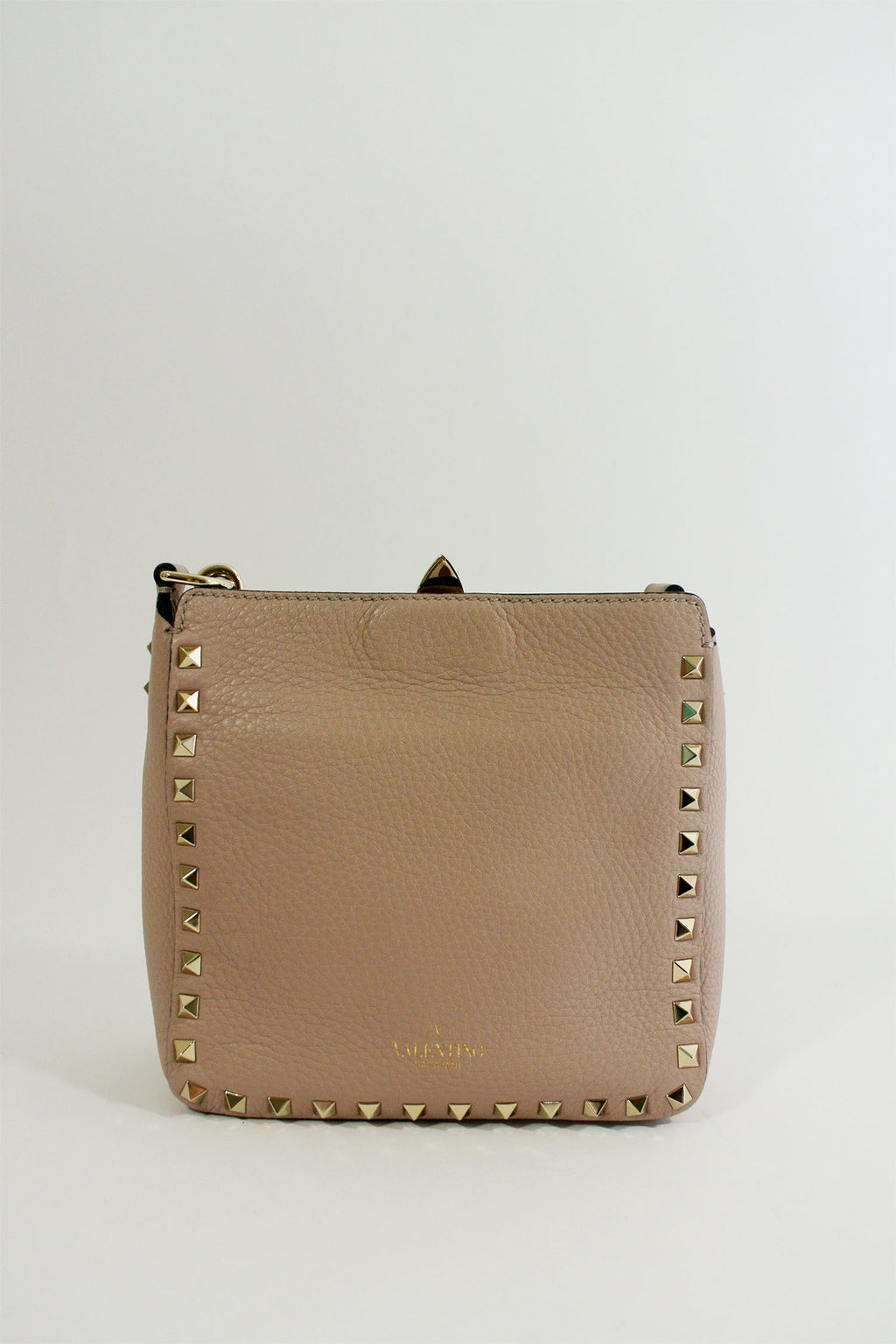 Valentino Mini Rockstud Blush Hobo Crossbody Bag
