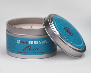 Candle, Peace Travel Tin
