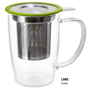 New Leaf Glass Tall Tea Mug