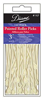 "Diane Pointed Roller Picks 3"" 100 Pack 1107"