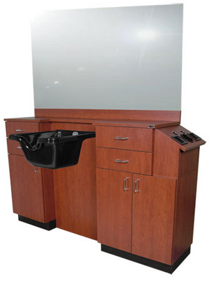 Collins 5511-66 QSE Deluxe 39Hi Barber Station