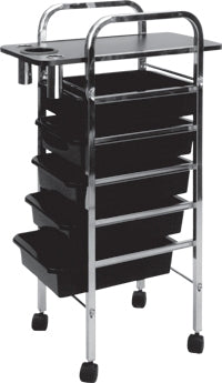 Pibbs 907A 5 Shelf Utility Tray Cart