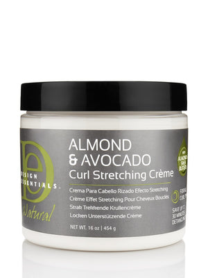 Design Essentials Natural Almond & Avocado Curl Stretching Cream 16oz