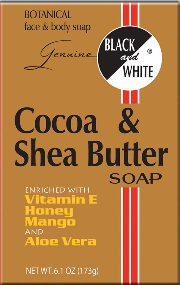 Black & White Cocoa & Shea Butter Soap 6.1oz