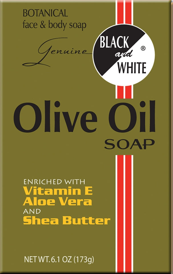 Black & White Olive Oil Soap 6.1oz