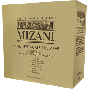 Mizani Sensitive Scalp Rhelaxer Kit Relaxer 4 Pack