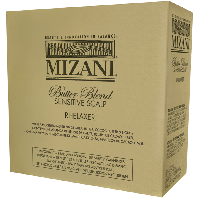 Mizani Butter Blend Sensitive Scalp Rhelaxer 4 Pack Relaxer Kit