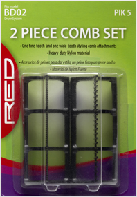 Red 2 Piece Comb Set BD02