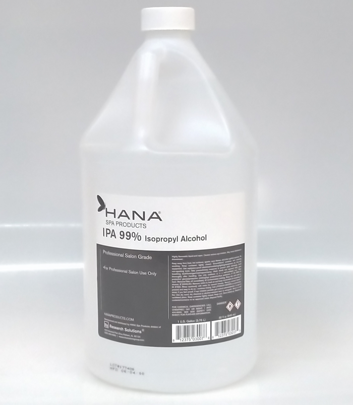 Hana Spa Products IPA 99% Isopropyl Alcohol Gallon