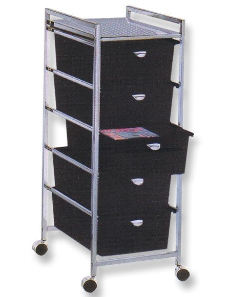 Pibbs D25 5 Drawer Metal Cart