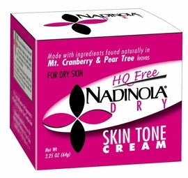 Nadinola HQ Free Skin Tone Cream for Dry Skin 2.25oz