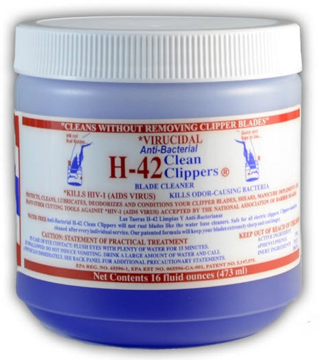 H42 Clean Clippers Blade Cleaner Jar