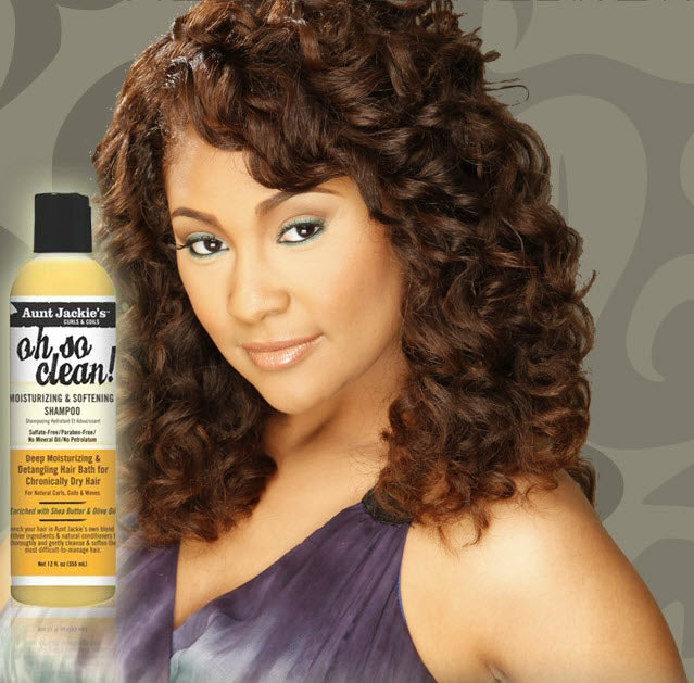 Aunt Jackie's Oh So Clean! Moisturizing & Softening Shampoo 12oz