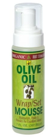 Organic Root Stimulator Olive Oil Wrap Set Mousse 7oz