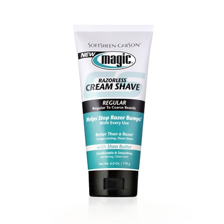Magic Shave Razorless Cream Shave Regular 6oz