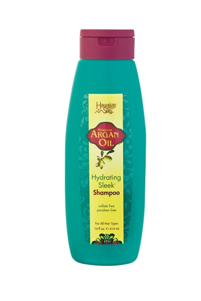 Hawaiian Silky Argan Oil Hydrating Sleek Shampoo 14oz