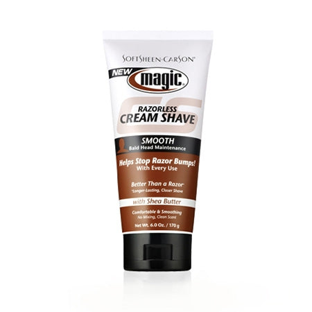 Magic Shave Razorless Cream Shave Smooth 6oz