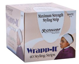 Graham Wrapp-It Styling Strips Single Box WHITE (40 strips)