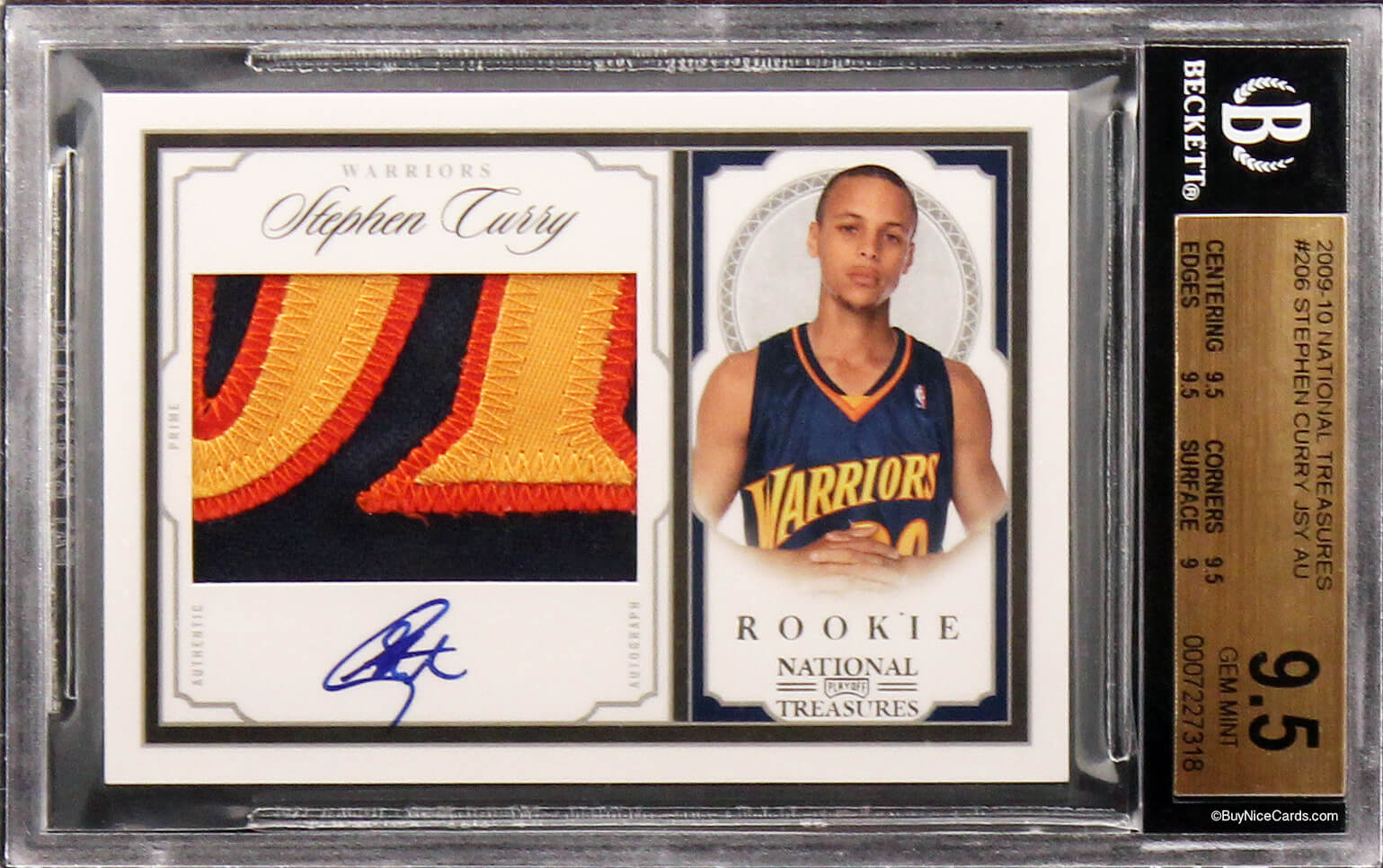 2009 10 Stephen Curry Panini National Treasures Rc Rookie