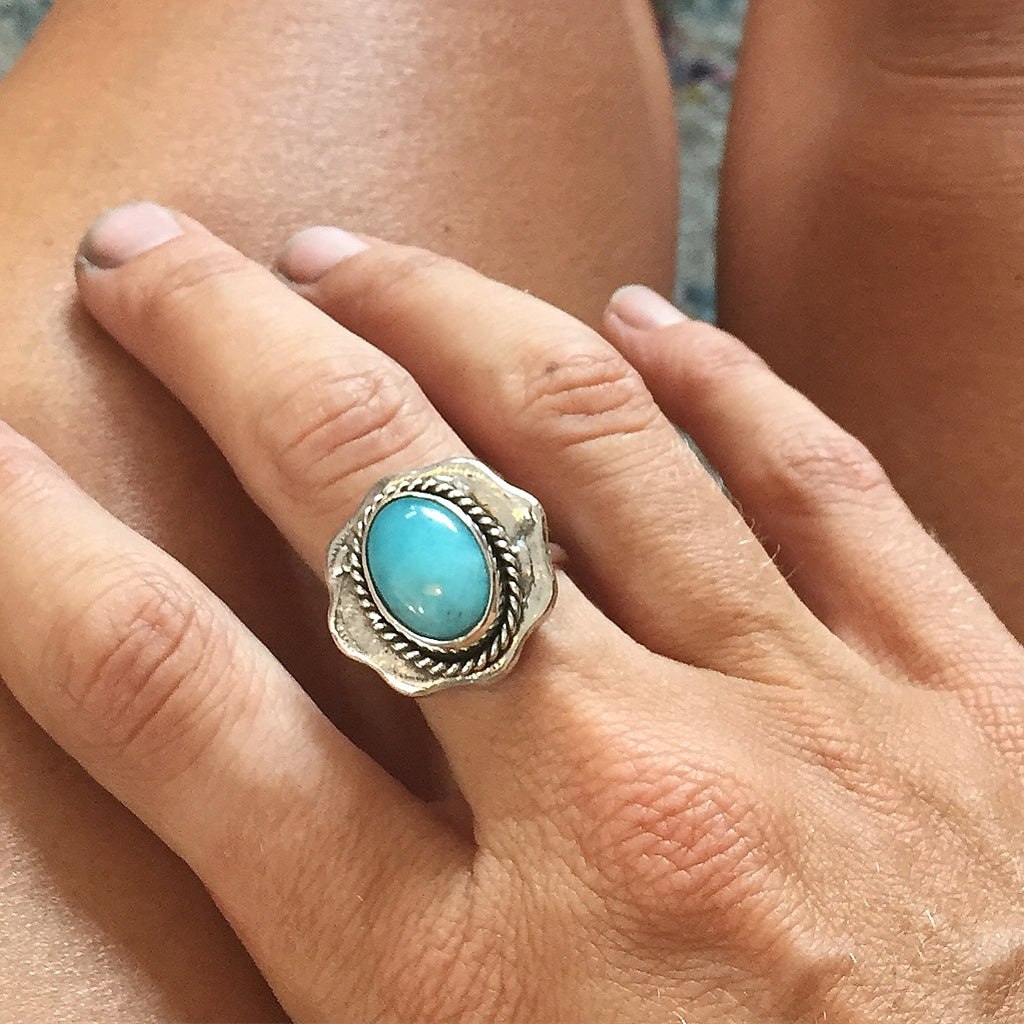The Amazonite Coin Ring