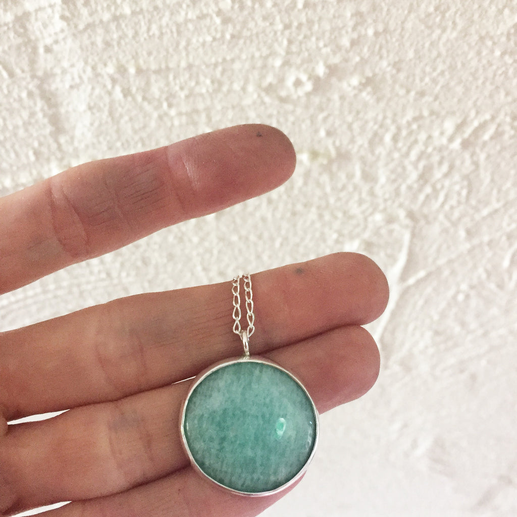 Amazonite Round Necklace