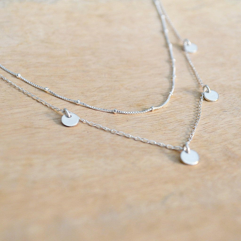 Silver Desert Oasis Necklace