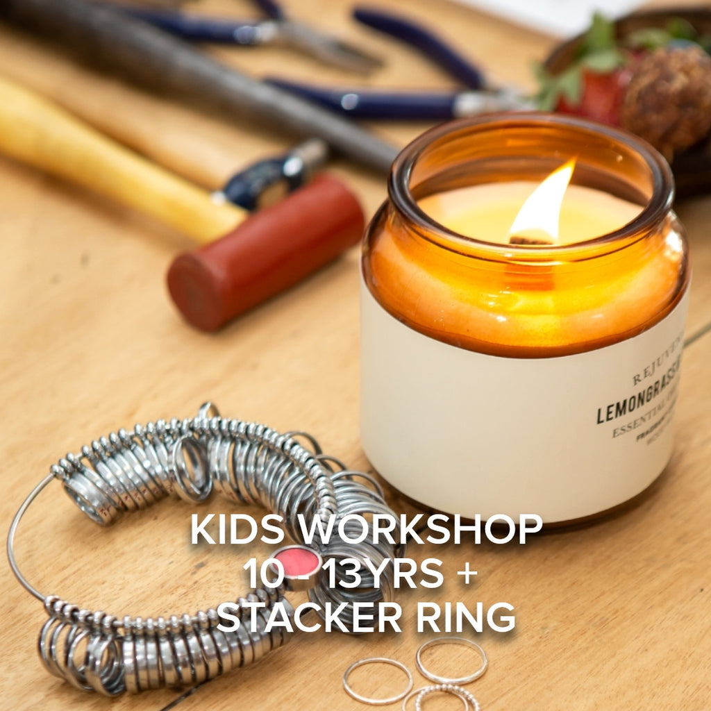Kids Holiday Workshop 10 - 13+yrs - Stacker Ring