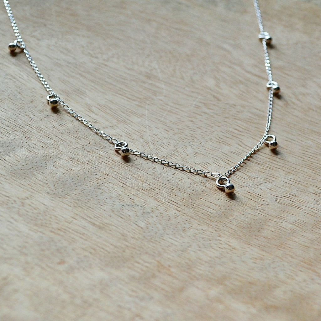 Silver Moondrops Necklace