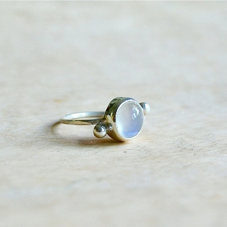 Silver + Moonstone Paradise Ring