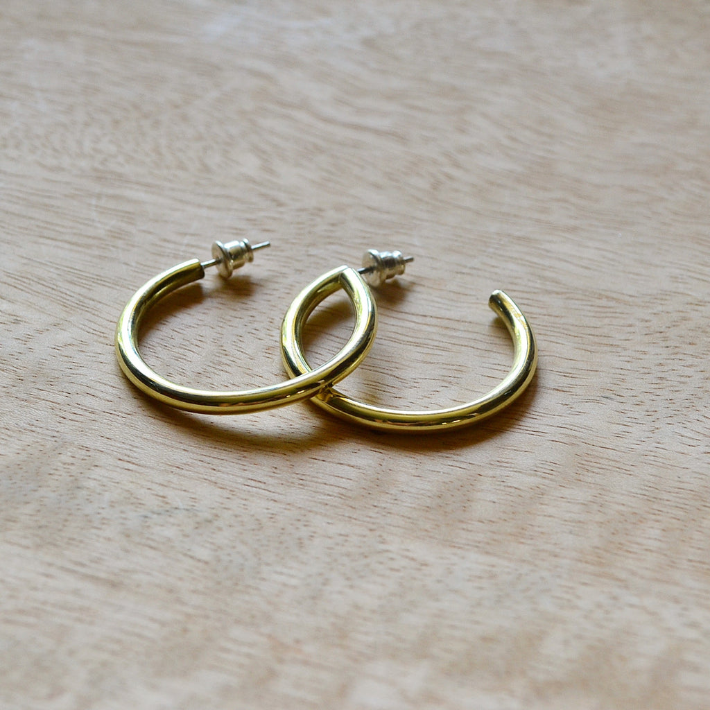 Brass Thick Hoops