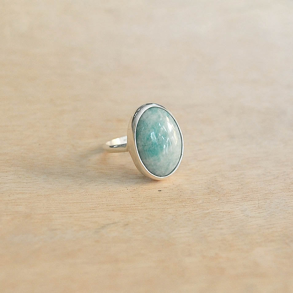 Silver + Amazonite Fable Ring