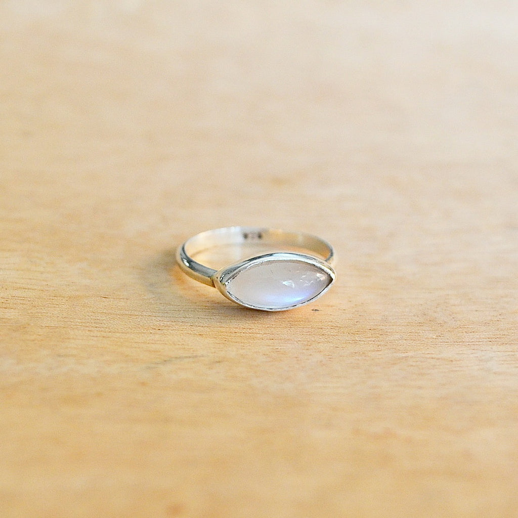 Silver + Moonstone Oasis Ring
