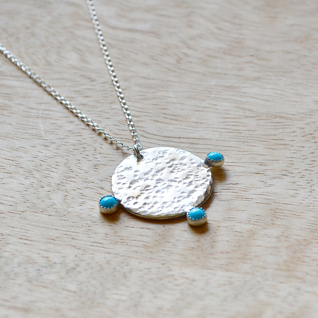 Silver Turquoise Talisman Necklace