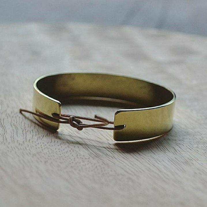 Brass + Leather Cuff