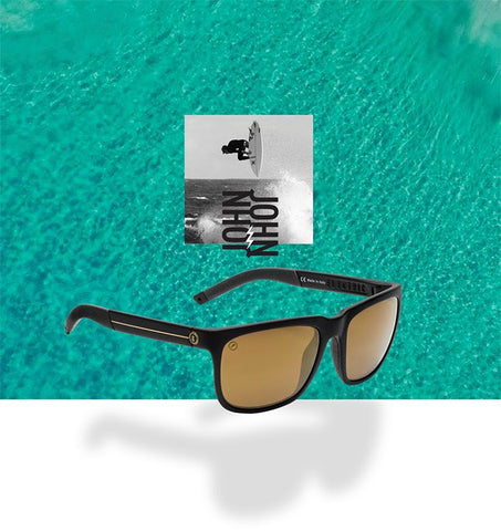 """ELECTRIC X JJF"" Johjn john Florence's latest collaboration with electric sunglasses. Knoxville"