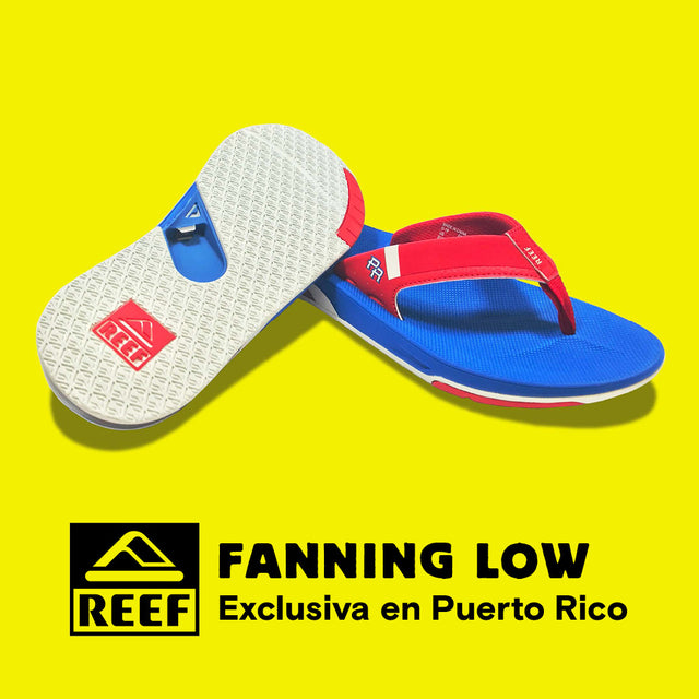 Reef Fanning Low sandals Puerto Rico limited edition