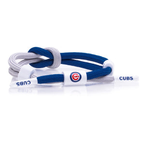 """Cubs"" knotted Rastaclat  Outfiled bracelet"