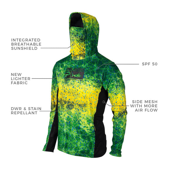 Exo-Tech Hooded Fishing Shirt | Green Dorado Hex