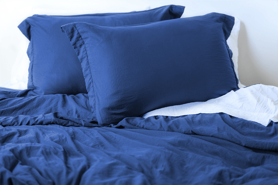 image of Vintage Navy Duvet Cover Set