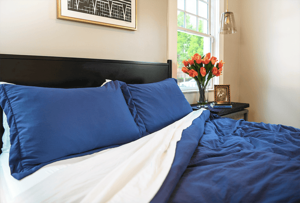 Load image into Gallery viewer, Vintage Navy Duvet Cover Set- Sold Out