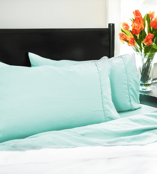 image of Vintage Seafoam Pillowcase Set