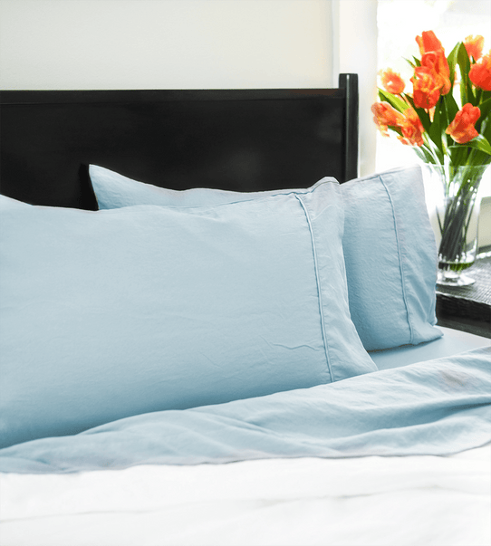 image of Vintage Powder Blue Pillowcase Set