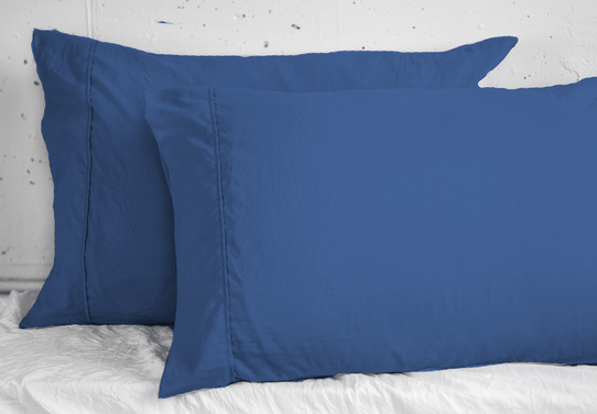 image of Vintage Navy Pillowcase Set- Sold Out