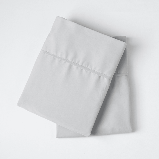 image of Brushed Silver Pillowcase Set