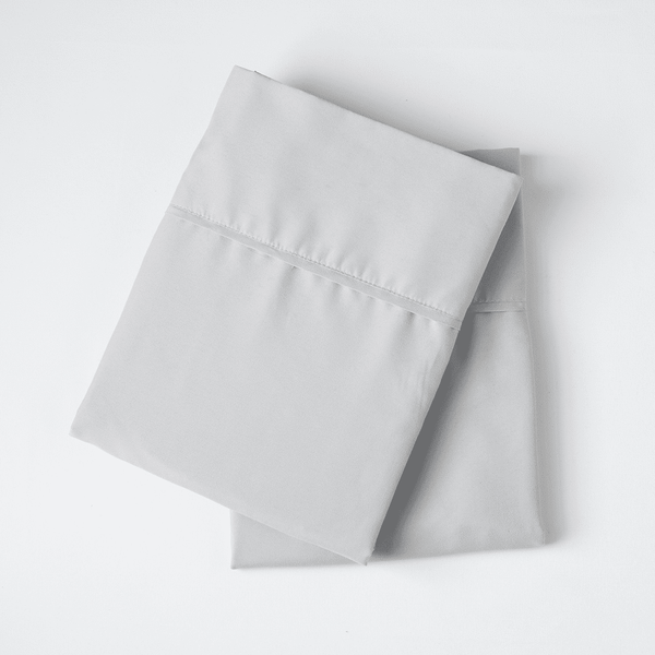 Load image into Gallery viewer, Brushed Silver Pillowcase Set