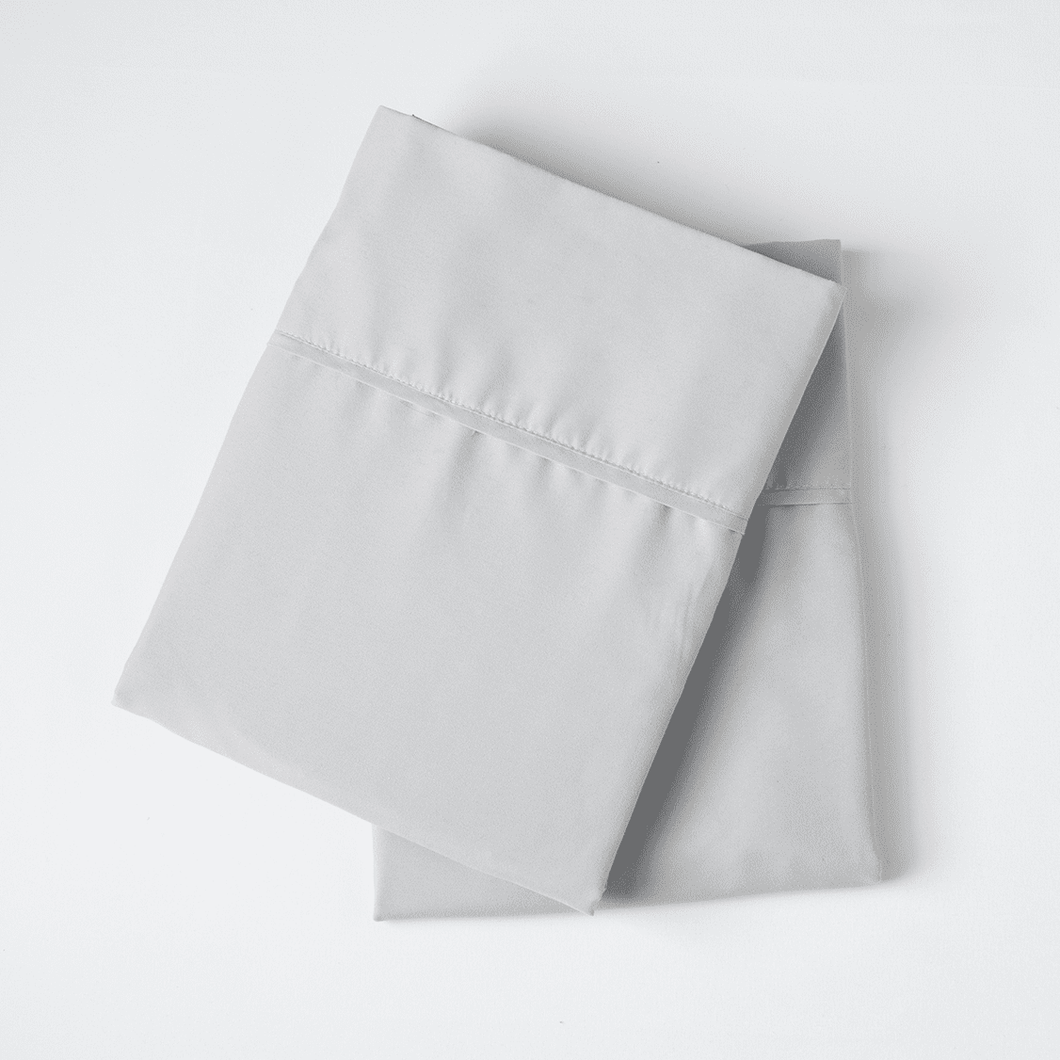 Brushed Silver Pillowcase Set