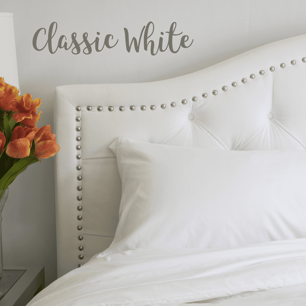 White bed sheets twitter header Sweater Load Image Into Gallery Viewer Classic White Sheet Set Amazoncom Classic White Sheet Set The Original Peachskinsheets