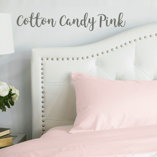 image of Cotton Candy Pink Sheet Set
